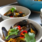 Mussels in Panang Curry Sauce