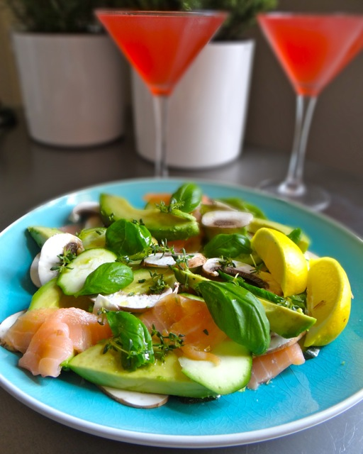 Smoked Salmon & Courgette Salad