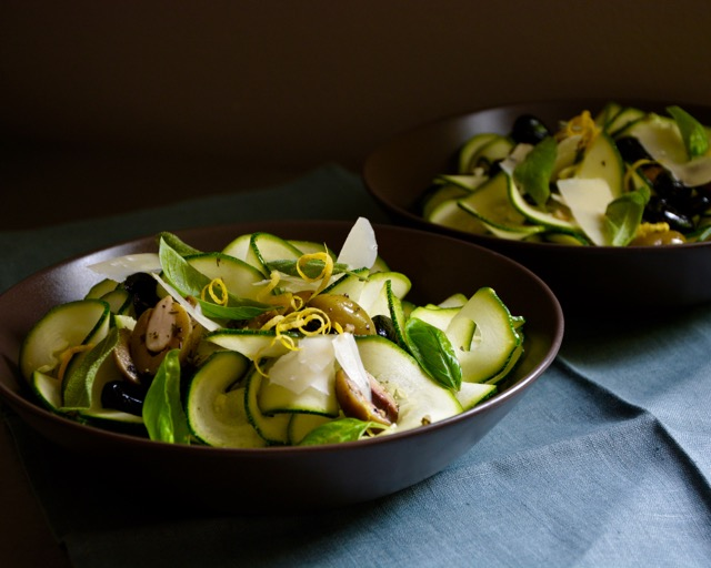 Zoodles, Olives, Lemon and Pecorino
