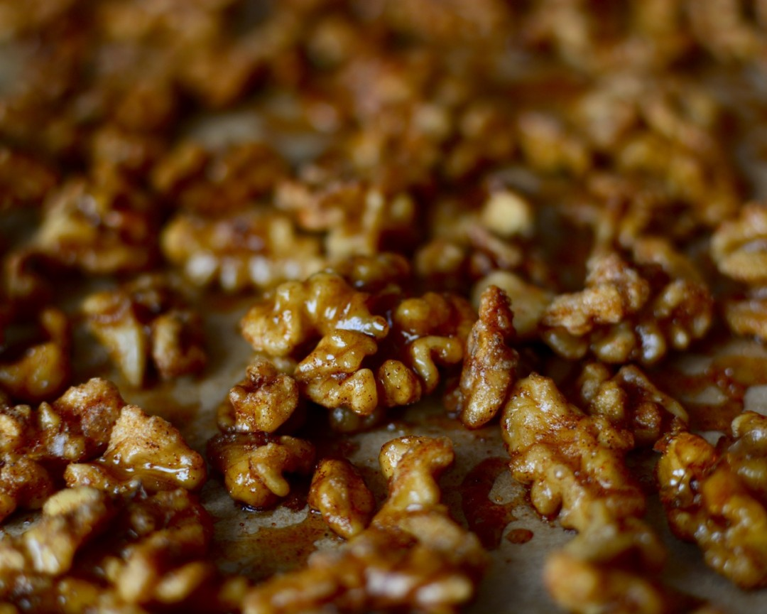 Candied Spiced Walnuts