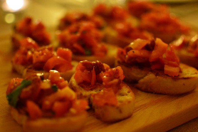 Dinner with Kevin & Mia, Bruschetta