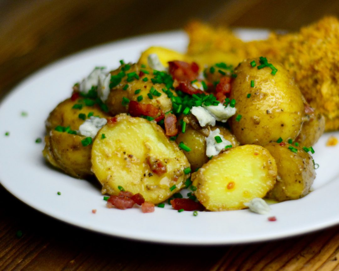 Potato Salad with Blue Cheese & Bacon